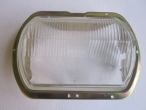 Nr:	401-0008	 -	Wartburg 353	 -	Fényszóró üveg régi típ. (kerettel)	 -	Scheinwerferkappe alte Version (mit Rahmen)	 -	headlight glass old version (with bezel)	 -	15	EUR